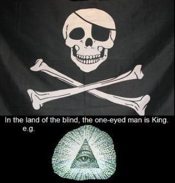 In the land of the blind, the one-eyed man is king.